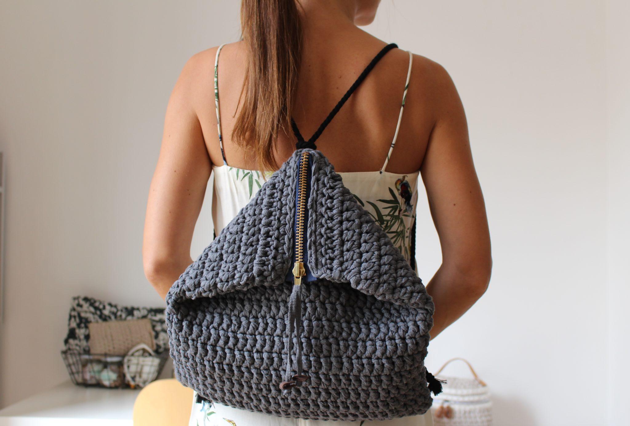 mochila crochet XL